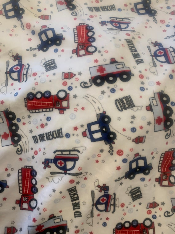 To the rescue double minky baby blanket