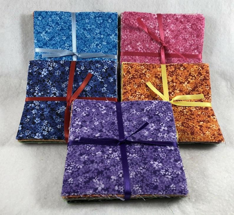 Floral Confetti 102-5\u201d Precut Square Charm Pack 100/% Cotton Fabric