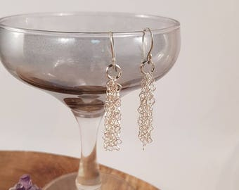 Sterling silver earrings with handmade earhooks