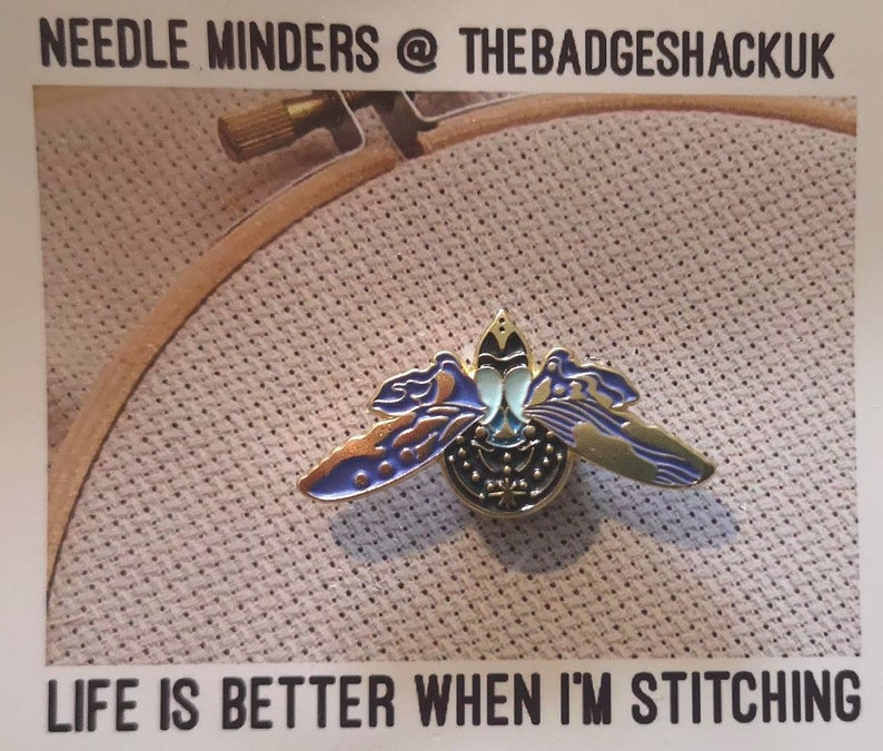 needle keep cross stitch magnetic needle needle nanny Mini minder for smaller projects  minder embroidery needle point needle magnet