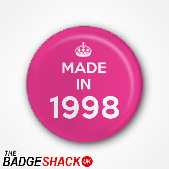 Available as 2.5cm Pin Badge or 3.8cm Pin Badge or Magnet 40th Birthday Pin Badge or Magnet