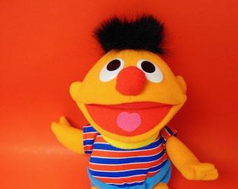 Vintage Sesame Street Tickle Me Ernie Doll - Talks Laughs Wiggles