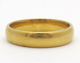 6b85536c4 Antique 1912 Wedding Band 22k Yellow Gold Great War Birmingham Ring