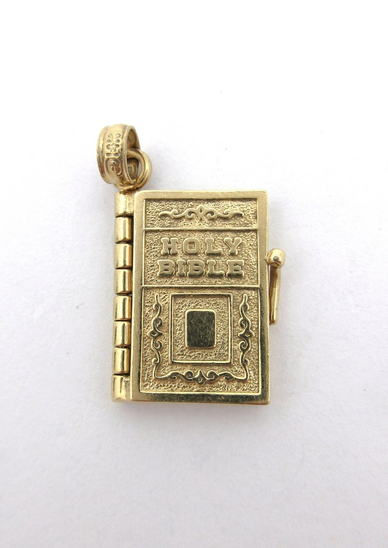 Solid 14k Yellow Gold The Lord/'s Prayer Medallion Pendant Necklace