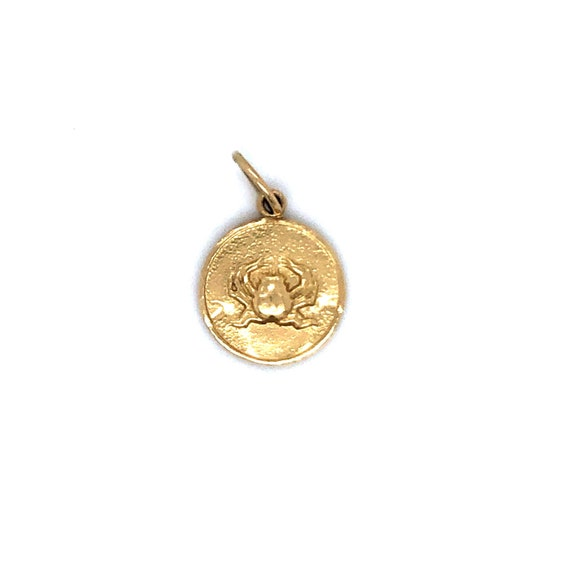 Estate Crab Zodiac Token 14k Yellow Gold