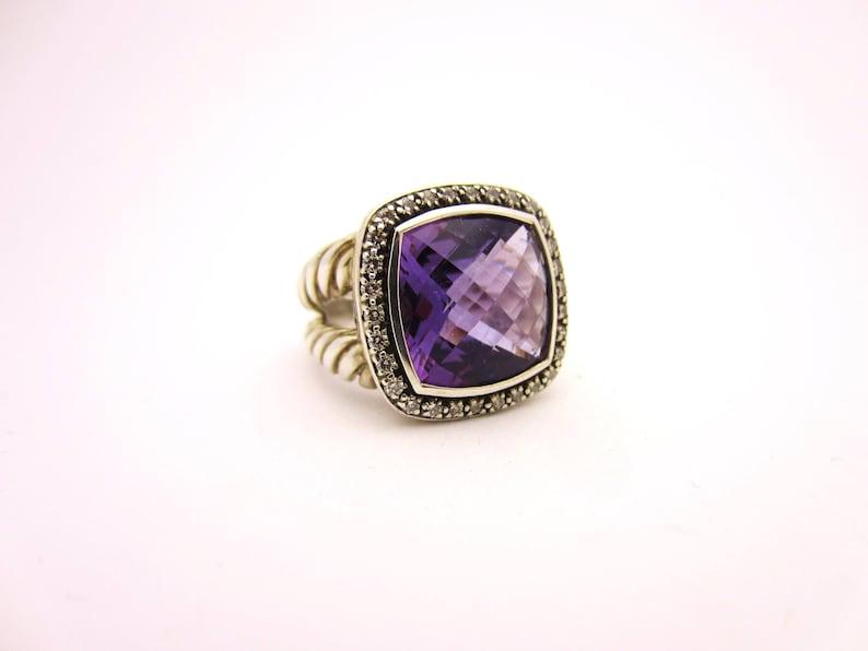 182e621b2 David Yurman Albion Amethyst and Diamond Ring Sterling Silver | Etsy