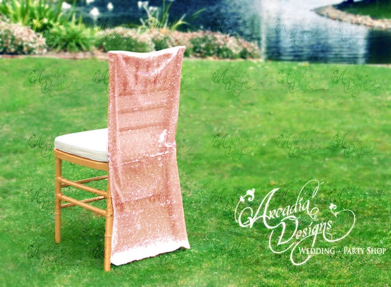 Terrific Sparkly Rose Gold Luxury Folding Chair Cover Sequin Chair Slipcover For Bridal Shower Wedding Ceremony Event Reception Engagement Decor Gmtry Best Dining Table And Chair Ideas Images Gmtryco
