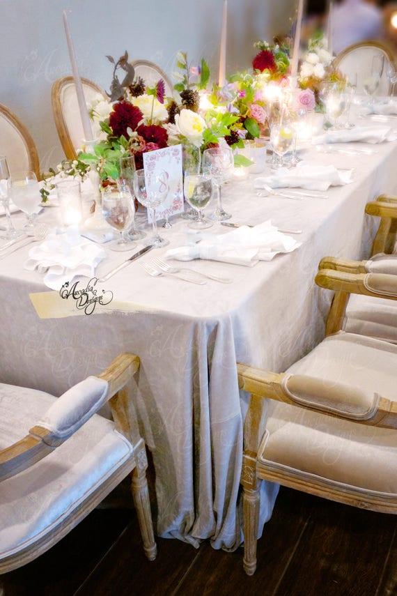 Velvet Tablecloth Elegant Table Linens For Event Wedding   Etsy