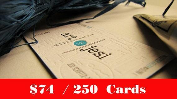 250 pcs custom letterpress business cards etsy image 0 colourmoves