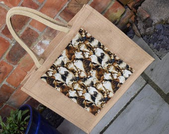 Brown Cats Jute Bag, Cats Jute Bag, Cat Shopping Bag, Cat Bag, Cats Gift Bag, Shopping Bag, Hessian Bag, Handmade Cat Bag, Cat Lover Gift