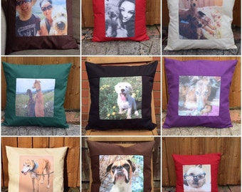 Personalised Cushion Cover of your Pet, Family Member, Favourite Place, Photo Cushion Cover, Pet Cushion Cover, Family Cushion Cover
