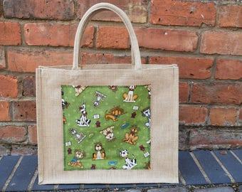 Dogs Jute Bag, Beagle Bag, Great Dane Bag, Poodle Bag, Shih Tzu Bag, Dachshund Bag, Dogs Shopping Bag, Dog Gift, Handmade Dog Bag, Dogs Bag