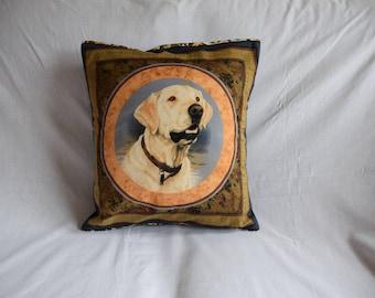 Yellow Labrador Retriever Cushion Cover, Dog Gift, Home Decor, Home Furnishings, Labrador Retriever Cushion, Labrador Gift, Retriever Gift