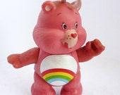 Care Bears Cheer Bear Vintage mini figure 1980s