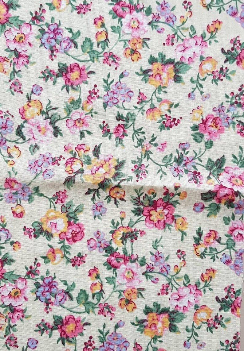 Fabric kit junkjournal supplies fabric scraps fabric bundle floral fabric