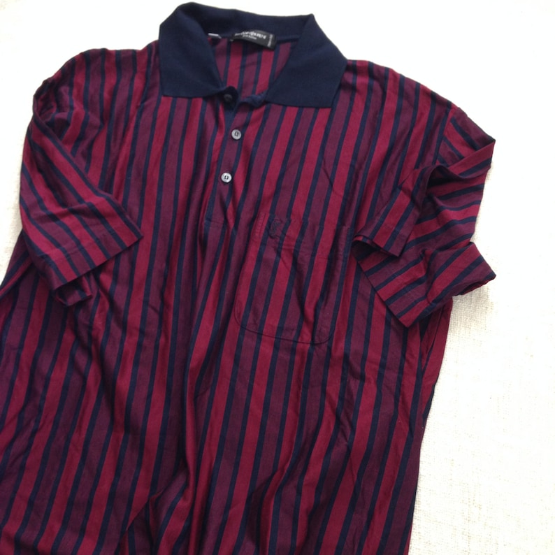 d1935aae Yves Saint Laurent Striped navy blue and red men polo shirt