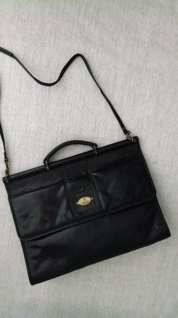 Gillian 50s Vintage Handmade Black Genuine Leather