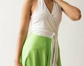1970s quot Butch Unlimited quot Jersey One Shoulder Wrap Dress