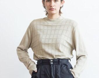 fbbad59fe1b4d 1980s Perry Ellis Silk Blend Knit