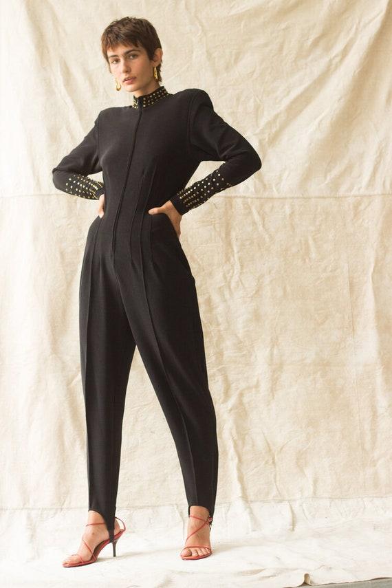 1980s Tadashi Studded Jumpsuit