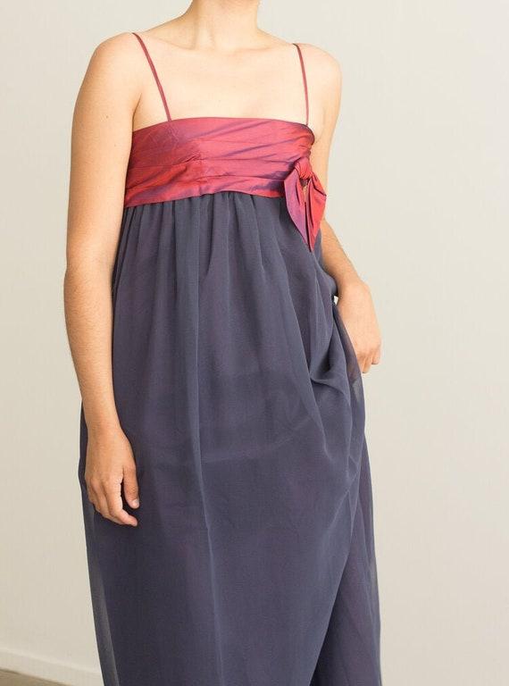 1970s Jean Varon Empire Waist Gown
