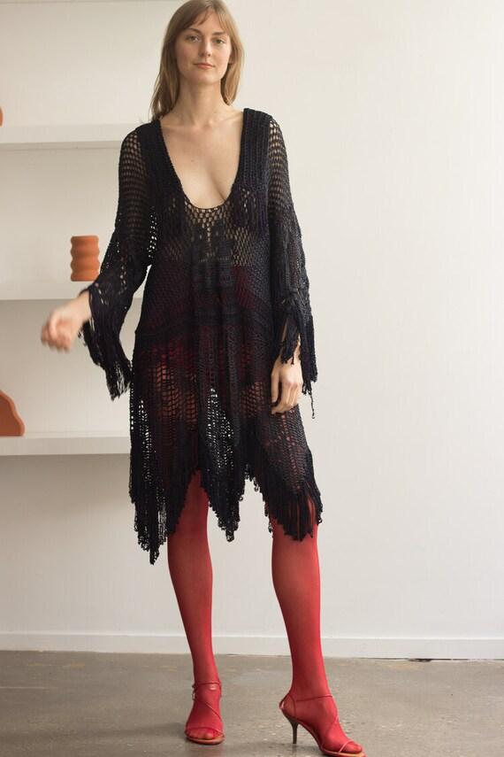 1920s Fringed Crochet Tunic