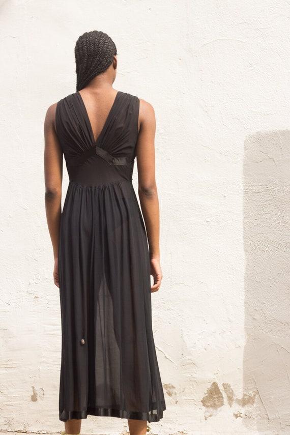 1930s Art Deco Silk Chiffon Slip Dress - image 2