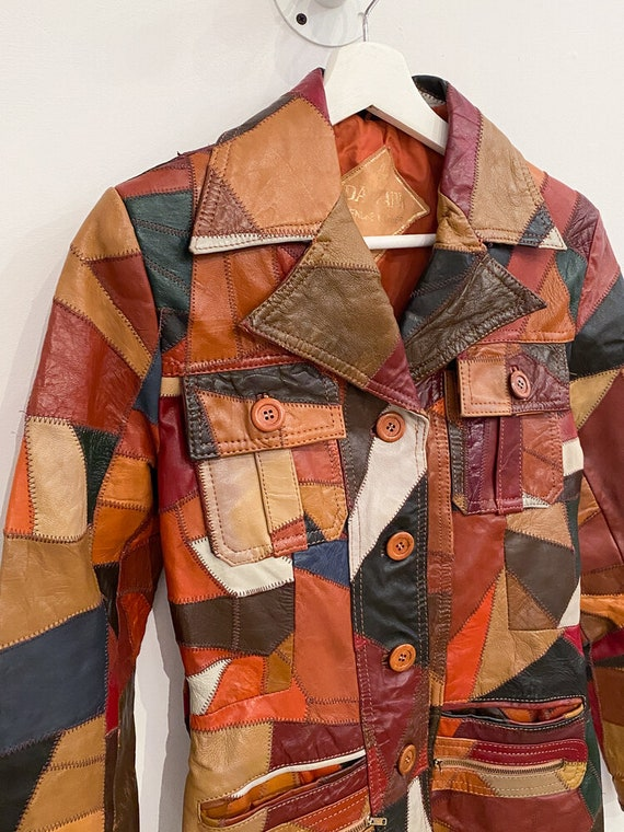 1970s Leather Patchwork Jacket