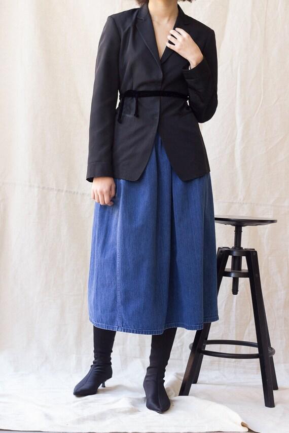 1980s Eddie Bauer Denim Middy Skirt