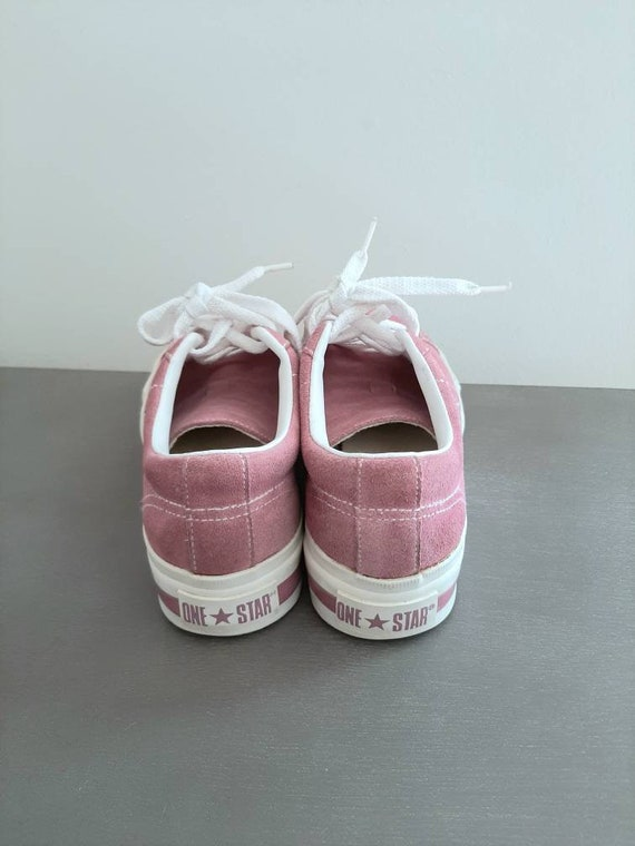 Platform converse - vintage sneakers - suede shoe… - image 7