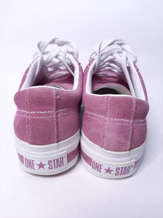 Platform converse - vintage sneakers - suede shoe… - image 9