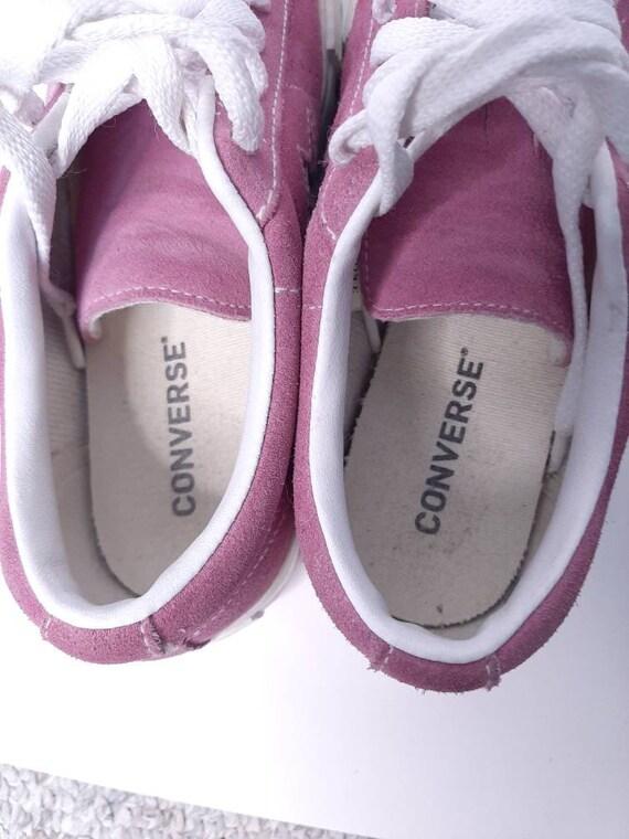 Platform converse - vintage sneakers - suede shoe… - image 8