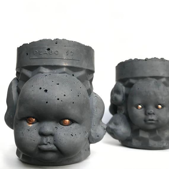 PeaboZombie Baby Doll Heads Planter - Hypertufa