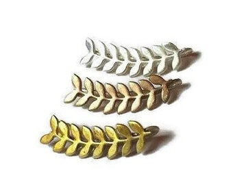 Ear climbers, ear crawler, christmas gifts, gifts for her, gifts for mom, climber earrings, leaf earrings, ear pins, leaf ear pins, ear cuff