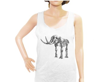 Elephant Skeleton Shirt Mammoth Skeleton Shirt cute t shirt funny quote tshirt cool tshirt blogger tee women tank top men tank top size M L