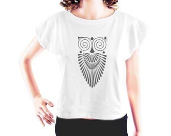 Owl shirt women graphic shirt animal tshirt instagram top hipster t shirt quote t shirt women t shirt ladies tee crop top crop shirt size S