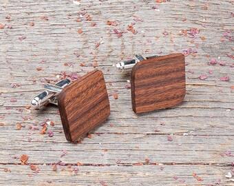 Wood Cufflinks, Rounded Square cufflinks, Wedding Cufflinks, boyfriend gift, cufflinks gifts for him, groomsmen, customized, personalization