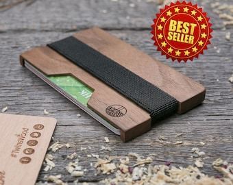 Wood wallet, Walnut  SLIM, Minimalist Wallet, Card holder, Best for boyfriend's gift , Slim & Light wallet, Mini Mens wallet, insert card