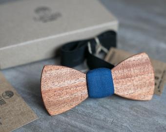 Wood bow tie, african wood bowtie. Wedding, navy bowtie, Men tie. Gift for Husband, Brother, Valentines, Groomsmen gifts, Birthday gift.