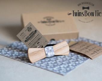 """Wooden bow tie """"IVAN"""" Slim, 100% handicraft  #TwinsBowties #WoodenBowtie"""