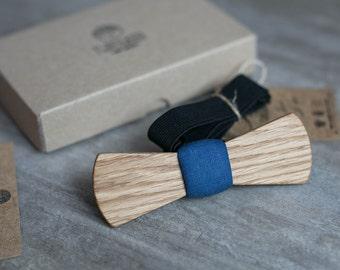 Wood bow tie, wooden bowtie.  Navy Mens bowtie, Men tie. wooden bow tie for Husband, Brother, Valentines, Groomsmen gifts, Birthday gift.