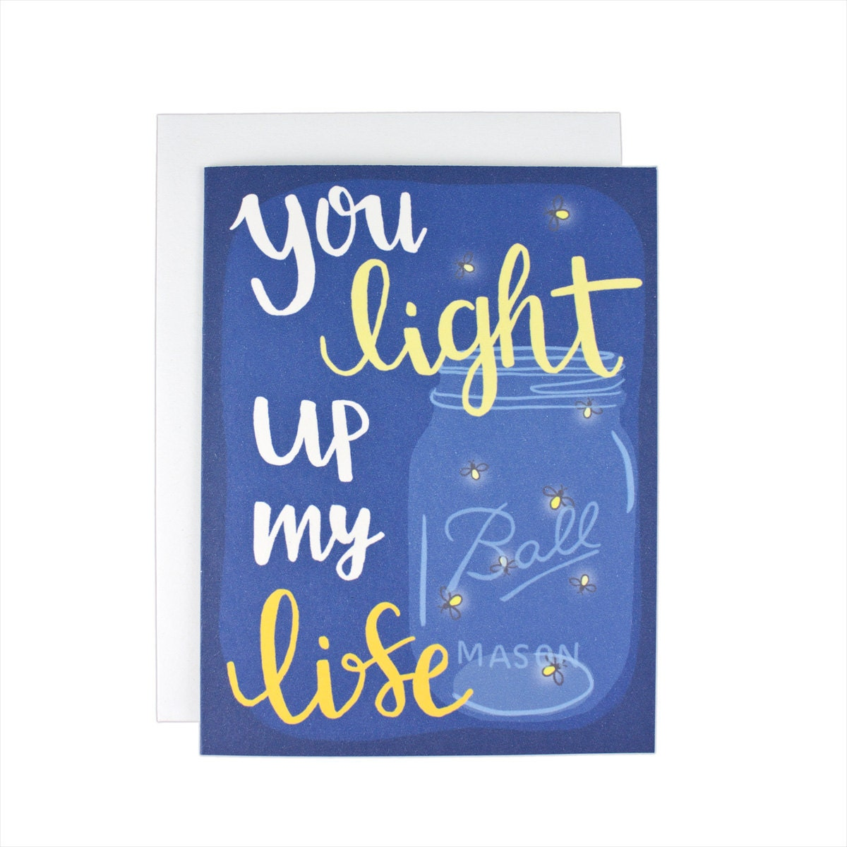 You Light Up My Life Greeting Card Firefly Lightning Bug Etsy