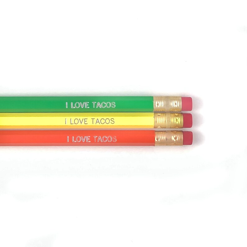 I Love Tacos Pencil Set image 0