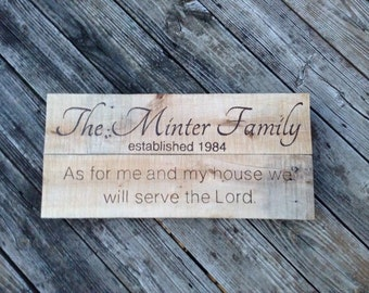 Custom Family sign -handmade and hand engraved