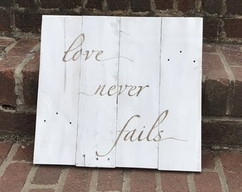 Love never fails -handmade and hand engraved