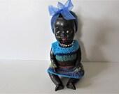 Small Rare Vintage Doll - Made in England - Some Damage MEMsArtShop.