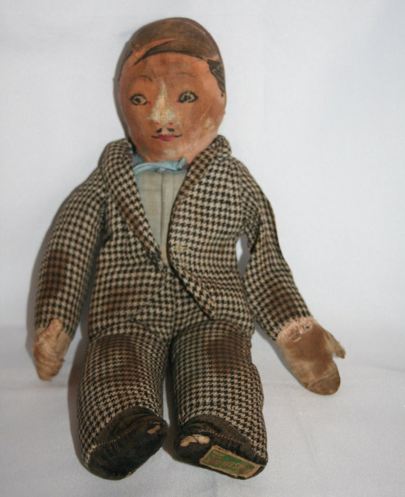 Old Rag Doll With Painted Face Lupino Lane Doll