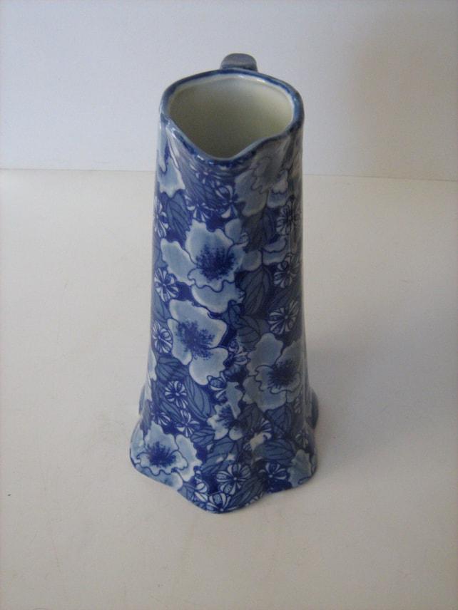 Vintage Ceramic Regency Iron Stone Jug Memsartshop Etsy
