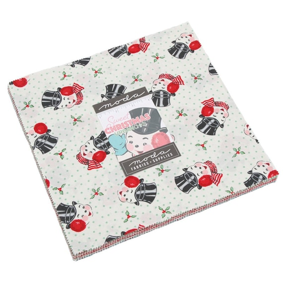 Assorted MODA Cheeky Charm Pack by Urban Chiks; 42-5 Inch Precut Fabric Quilt Squares