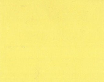 ORGANIC Cotton, MODA Solids Fabric 1 Yard Canary Yellow